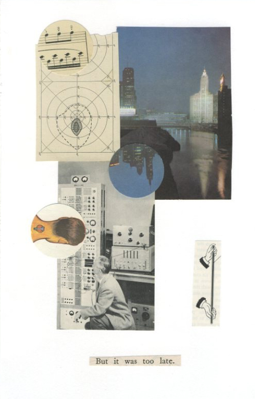 Pablo Helguera, But it was too late, 2008, collage on paper, Object: 7 x 11 in.
