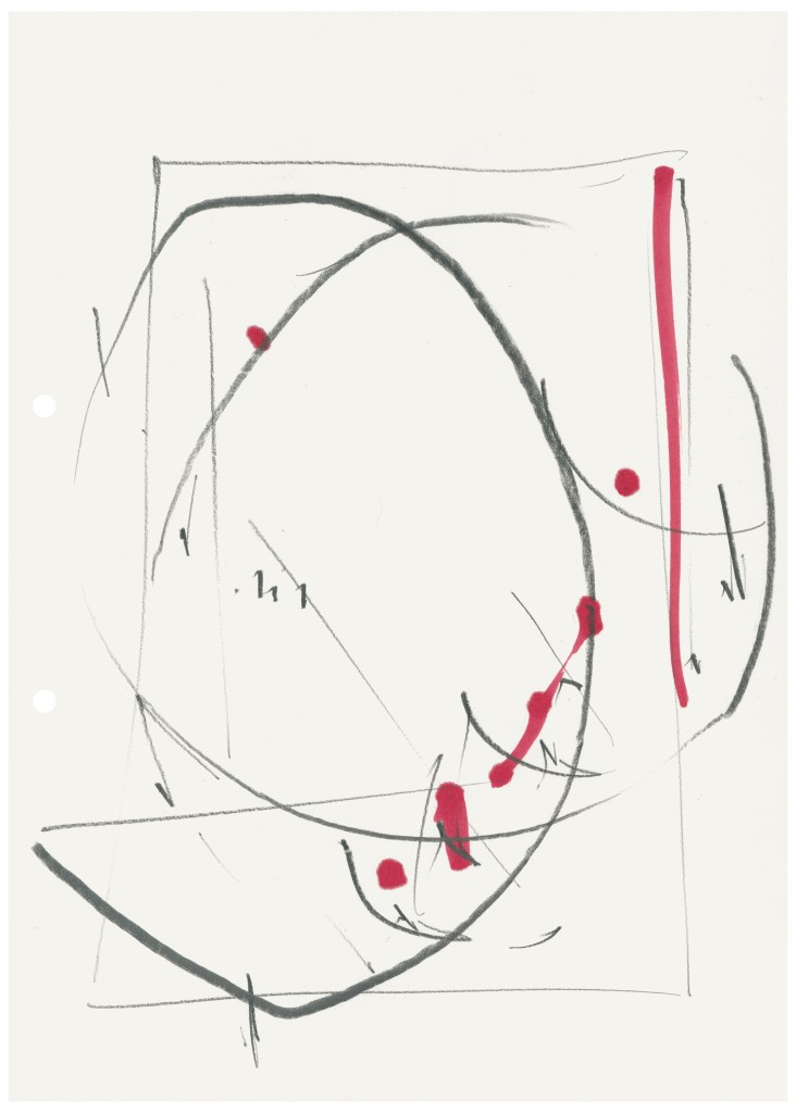 Imi Knoebel, Untitled, 1975, Graphite, watercolor on paper, Paper: 11 5/8 x 8 1/4 in.