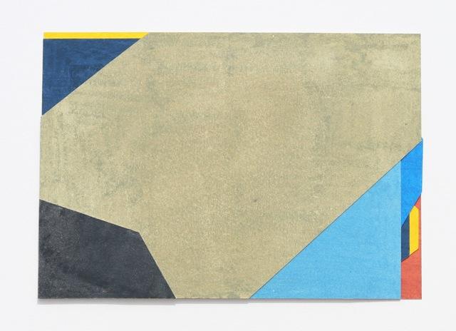 Sarah Bridgland, Dael 6, 2013, Oil pastel paper collage, Overall: 9 5/8 x 6 13/16 x 0 3/16 in.