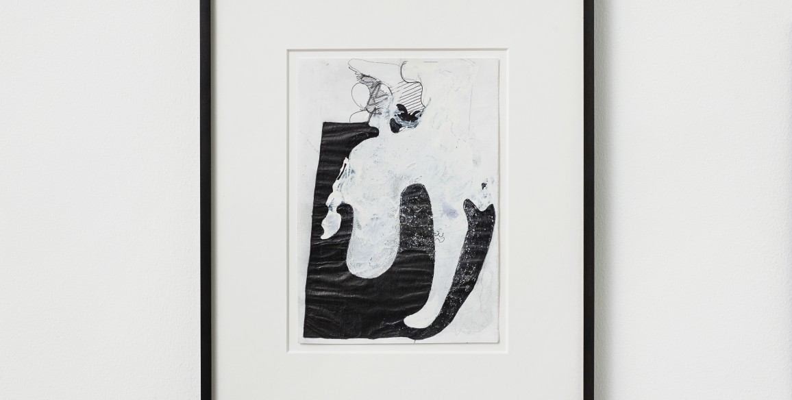 Till Megerle, Untitled (from the series Hallux), 2009-2013, Ball pen, pencil, correction fluid on paper, Paper: 8 1/4 x 5 13/16 in.