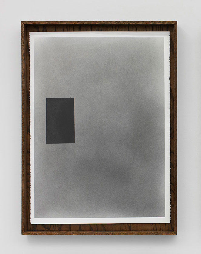 Nate Young, Untitled, 2014, graphite, paper, artist's frame, Framed: 33 x 24 1/2 x 2 1/2 in.