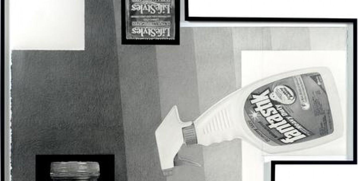 Karl Haendel, Fantastic Ultra Lubricated Grape Jelly, 2014, Pencil and enamel on cut paper, Framed: 40 x 39 in.