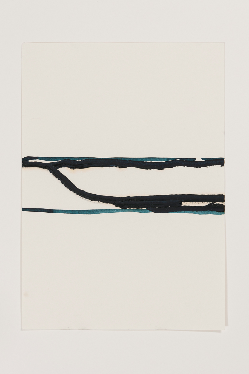 Thomas Muller, Untitled, 2012, graphite, acrylic paint, ink on paper, 11 11/16 x 8 1/4 in.