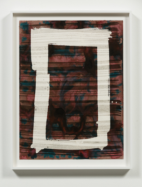 Rebecca Morris, Untitled (#141-12) , 2012, Mixed media on paper, Frame: 18 3/4 x 14 3/4 in.