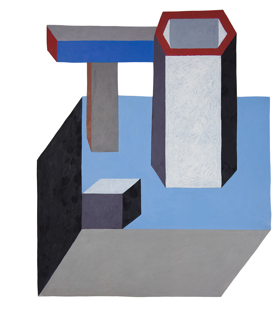 Nathalie Du Pasquier Untitled, 2013, Oil on cut-out paper Overall: 29 1/2 x 24 in.